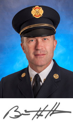Fire Chief Brian Hutchinson