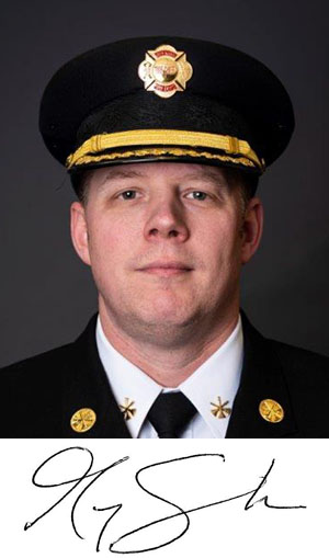 Fire Chief Greg Schalk